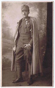 Cdv, Cabinet Photo, Soldier, First World War, 1914