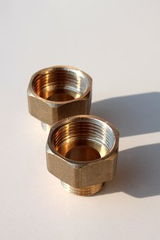 Brass, Connector, Copper, Fittings, Pipe, Thread