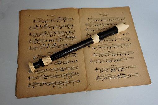 Sheet Music, Recorder, Music, Musical Instrument, Flute