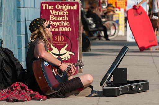 Guitar, Artist, Musician, Venice Beach