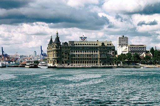 Haydarpasa, Train Station, Sea, Train, Old, Station