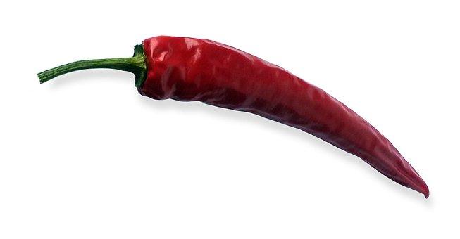 Chili, Chilli Pepper, Red, Sharp, Hot, Light, Shadow
