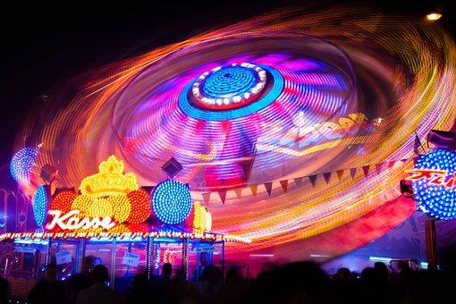 Carousel, Folk Festival, Fair, Fun, Hustle And Bustle