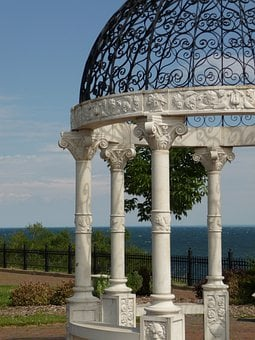 Gazebo, Pavilion, Architecture, Lake, Water, Minnesota