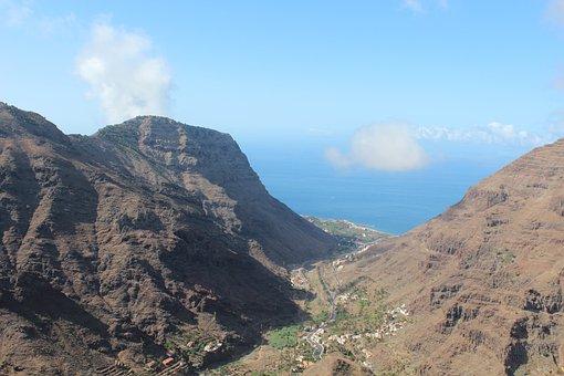 Canary Islands, La Reptiles, Valle Gran Rey, Landscape