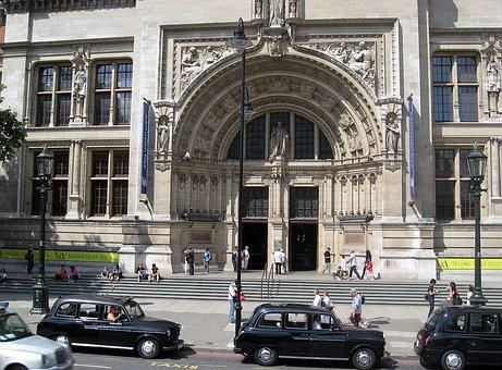 Building, Museum, Victoria, Albert, Taxis, London