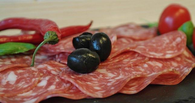 Salami, Sausage, Disc, Meat, Food, Pork, Meal