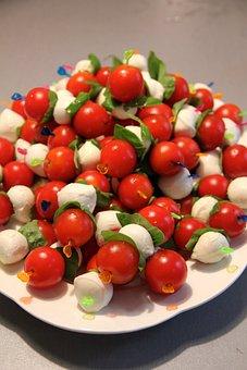 Eat, Kebab, Mozzarella Tomato Skewers, Food