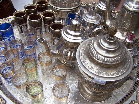 Africa, Orient, Shisha, Tee, Peppermint Tea, Flasses