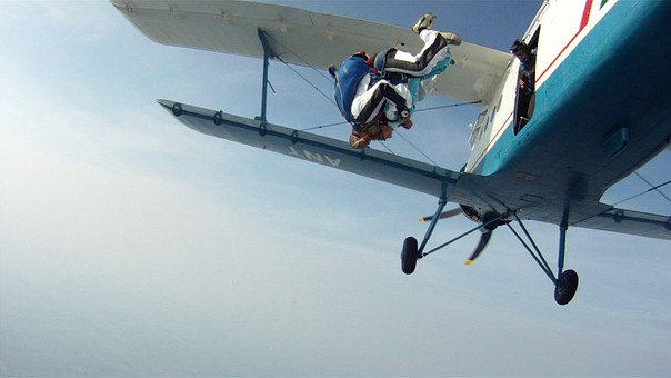 Tandem Skydiving, Parachute, Go To