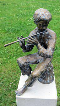 Sculpture, Music, Players, Musician, Park, Figure, Art