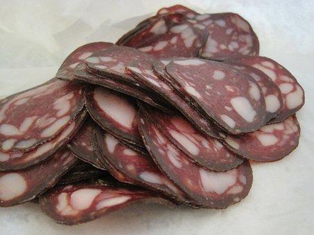 Salami, Sausage, Slice, Meat, Food, Pork, Meal, Sliced