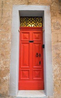 Maltese Door, Red Door, Red, Malta