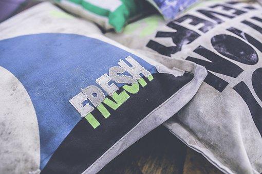 Fresh, Typo, Pillow, Vintage, Retro, Decor, Decoration
