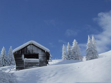 Hut, Snow, Winter, Tyrol, Serfaus-fiss-ladis