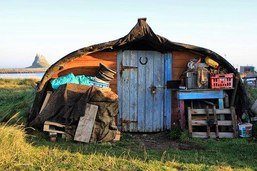 Shed, Hut, Old, Wooden, Wood, Cabin, Boat