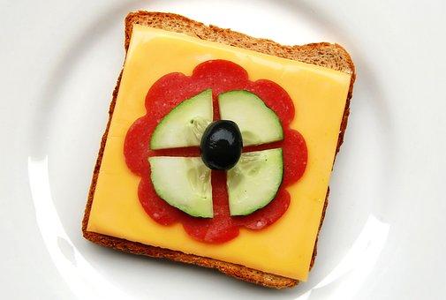 Toast, Sandwich, Snack, Bread, Cheese, Salami, Sausage