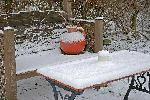 Winter, Garden Bench, Snowed In, Snow, Wintry, Snowy
