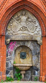 Fountain, Hamburg, St Pauli, Old, Ornament