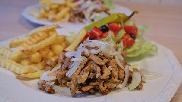 Gyros, Eat Greek, Eat, Tzatziki, Olive, Pepperoni