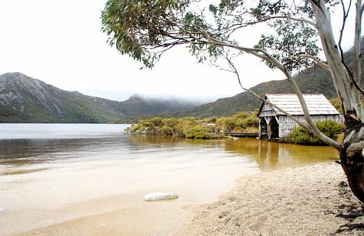 Boathouse, Tranquil, Beach, Water, Building, Wooden