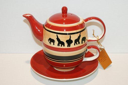 Cha Cult, Teapot, Tea Set, Animal-print, Elephant