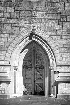 Door, Cathedral, Architecture, Church, Building, Old