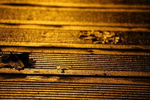 Wood, Ground, Wet, Orange, Night, Bridge, Earth, Brown
