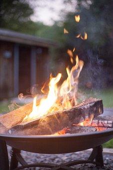 Camping, Fire, Firepit, Night, Woods, Trip, Burn, Heat
