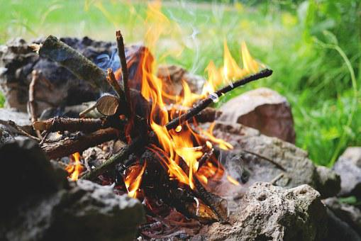 Fire, Campfire, Flame, Burn, Wood, Barbecue, Heat
