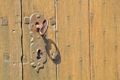 Door Lock, Key, Castle, Security, Metal, Close
