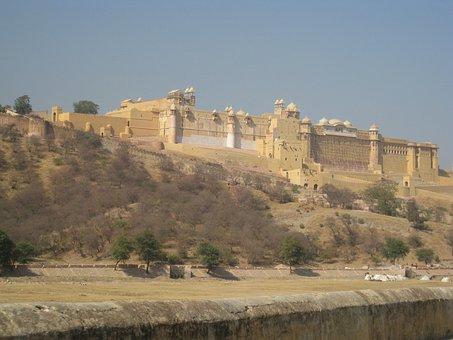 Amer, Palace, Royal, Castle, Jaipur, India, Landmark
