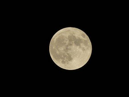 Full Moon, Moon, Night, Moonlight, Planet, Cuckold