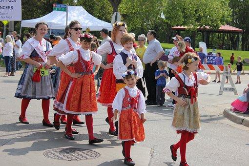 Parade, Czech, Slovak, Celebration, Festival, Party
