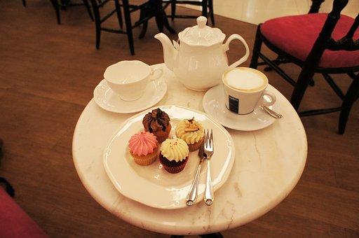 Tea, Teapot, Cupcake, Cup, Coffee, Cake, Dessert, Sweet
