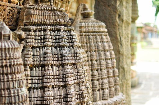 Temples, Architecture, Exterior, Sculptures, Stones