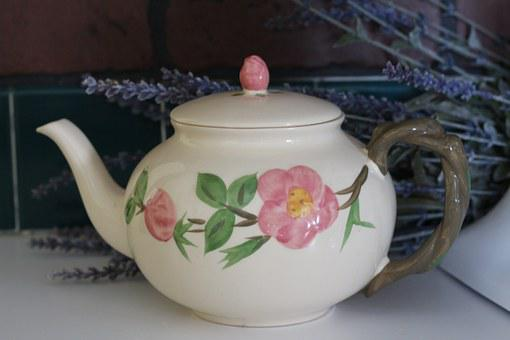 Teapot, China, Flower, Beverage, Design, Vintage, Old