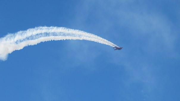 Airplane, Airshow, Sky, Flying, Blue, Aircraft, Fly