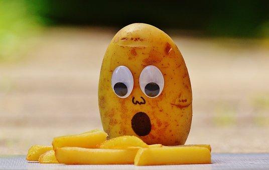 Potatoes, French, Mourning, Funny, Fun, Horrified, Eat