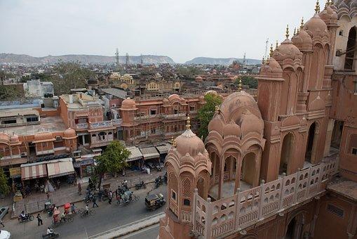 India, Jaipur, Wind Palace