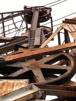 Mechanics, Industrial, Crane, Port, Wharf, Water