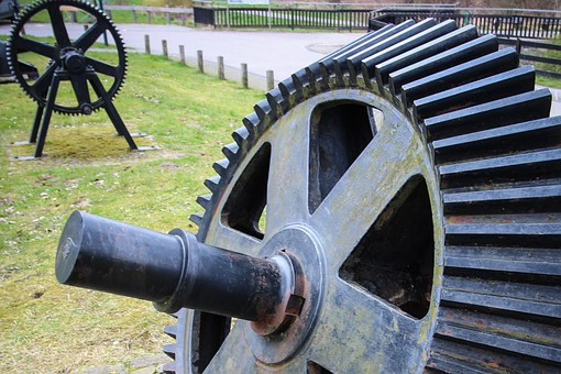 Germany, Iserlohn, Art, Industrial Heritage, Machine