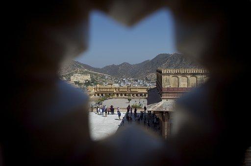 Amer, Fort, Jaipur, Rajasthan, India, Tourism
