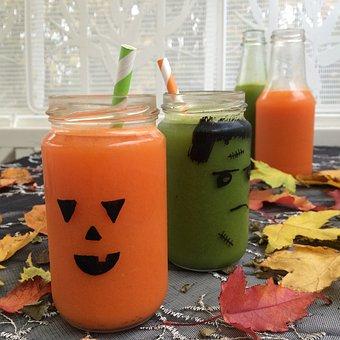 Halloween, Juice, Organic, Carrot Juice