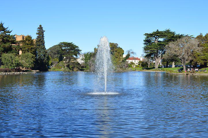 Source, Water, Landscape, Gardens, Monument