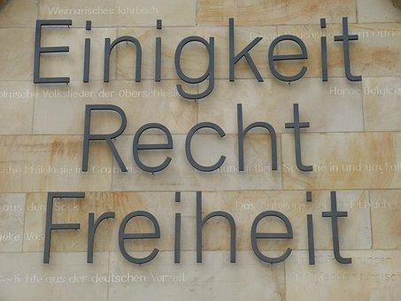 Monument, Lettering, Hanover, Lower Saxony