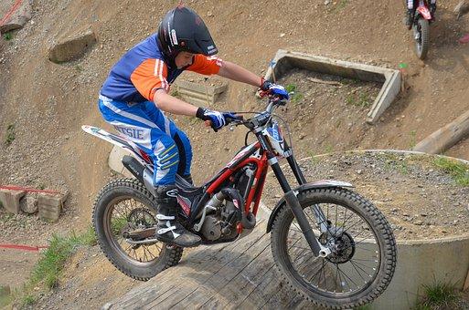 Trial, Trial Bike, Terrain, Motorsport, Motorcycle