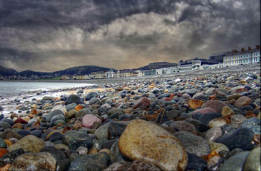 Llandudno, Beach, Sea, Sky, Clouds, Colorful, Nature