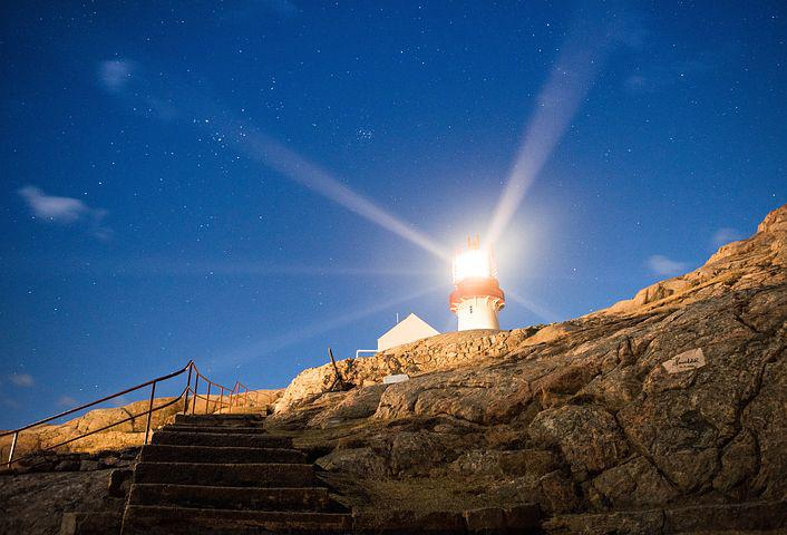 Guy, Lindesnes, Sunset, Norway, Evening, Night, Easy