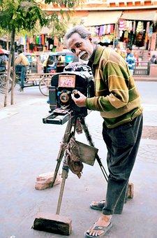 Old Camera Man, Jaipur, Old Man, Camera